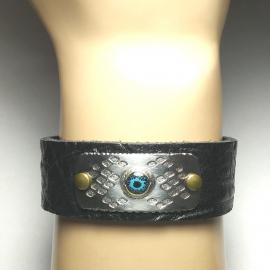 Snakeskin Pattern Rustic Textured Bracelet