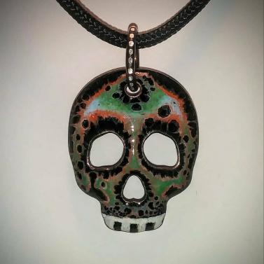 Enamel Skull 2