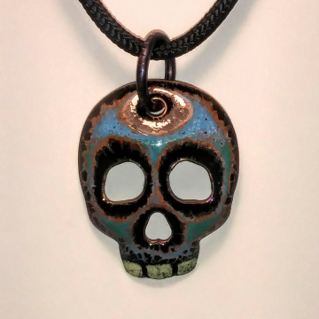 Enamel Skull 3