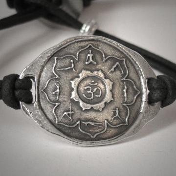 Yoga Jewelry Yoga Bracelet Yoga Gift Lotus Flower Mala Om Spiritual Mandala Meditation Chakra Bracelet