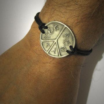 Interfaith jewelry Multifaith Jewelry Coexist World Peace Symbol Bracelet Hindu Jewish Buddhist Gay Lesbian Christian