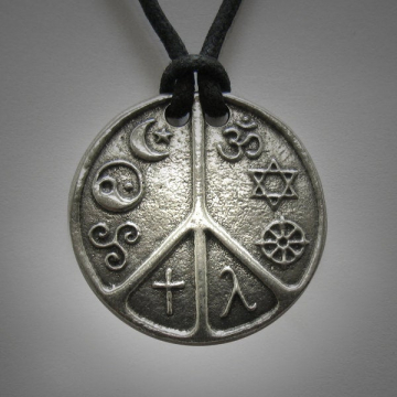 Interfaith jewelry Multifaith Jewelry Coexist world Peace Symbol Hindu Jewish Buddhist Gay Lesbian Christian Pagan