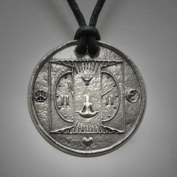 11:11 1111 Art Necklace Interfaith Multifaith Awakening Make a Wish Spiritual Numerology Ascention Jewelry Necklace