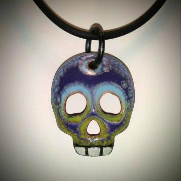 Enamel Skull 1