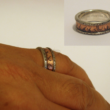 Ring of Fire - copper, silver